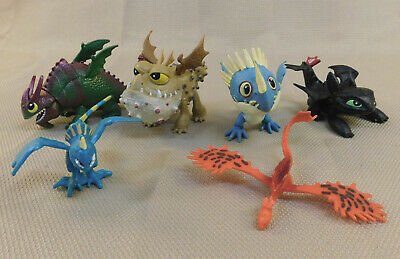 Lot Of 6 How To Train Your Dragon Defenders Of Berk Figures Toothless Stormfly