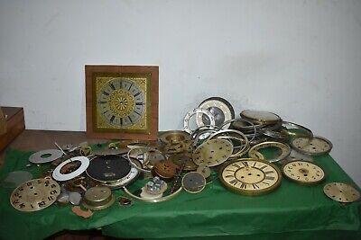 Clock Dials,frames,parts etc for restoration.