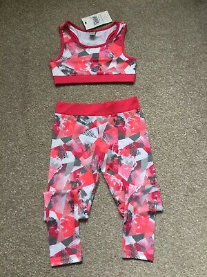 Tu Girls Fitness Outfit - Age 7 - Brand New With Tags
