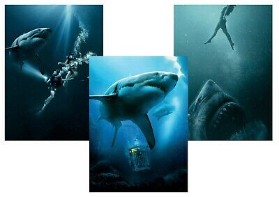 47 Meters Down Uncaged A5 A4 A3 Shark Movie Posters