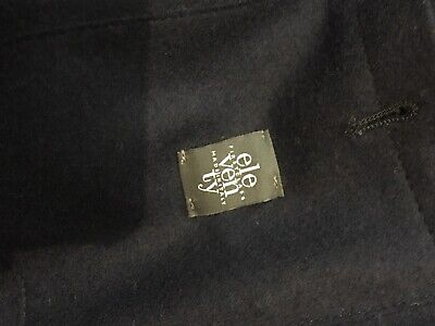 Eleventy Blazer Men's 54 US Size 44 Dark-blue Slim Fit Plain Cotton