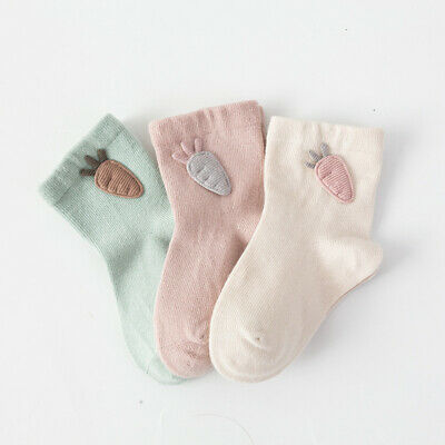 3 Pairs Baby Boy Girl Cartoon Cotton Socks NewBorn Infant Toddler Kids Soft Sock