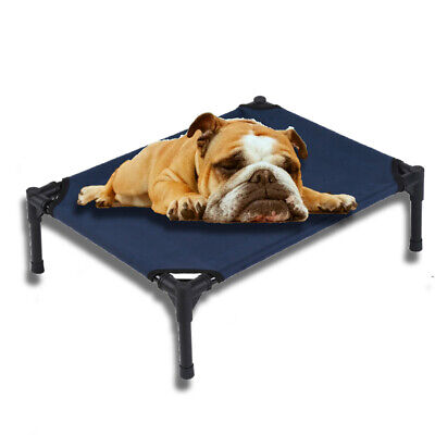 Oxford Cloth Elevated Dog Bed Pet Cot Large Pet Lounger Sleeper Hammock  Camping