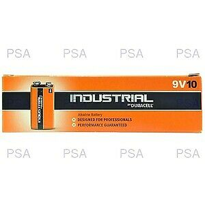 NEW! Duracell Industrial 9V Size Pack Of 10