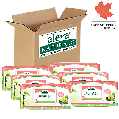 Aleva Naturals Bamboo Baby Sensitive Wipes 432 Count 🇨🇦 FAST & FREE