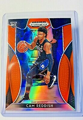 2019-20 Panini Prizm Draft Picks Cam Reddish Orange Refractor Rookie Hawks Sp Rc