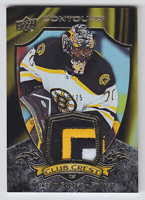 2015-16 UD CONTOURS MALCOLM SUBBAN RC PATCH /75 CLUB CREST ROOKIE CC-3 Knights