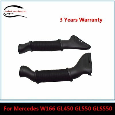 New Pair Set Of Left /& Right Air Intake Hoses For Mercedes W166 GL450 GL550