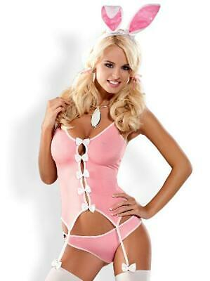 Bunny Suit 4 Pc Costume in Pink by Obsessive - Australian Stock