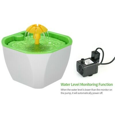 Automatic Pet Dog Cat Water Drinking Flower Fountain Drink Dish Filter Bowl GA