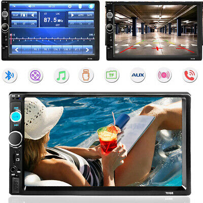 7 ''Autoradio Stereo Touchscreen Doppel 2Din Bluetooth MP5 AUX FM SD TF In-Dash