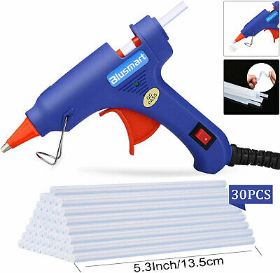 20W Electric Heating Hot Glue Gun High Temperature+ 30pcs Melt Glue Sticks AU