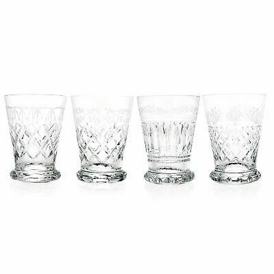 Waterford Crystal Heritage Set of 4 6 oz Mixed Pattern Tumblers