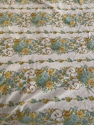 Pair Of Vintage Cotton Floral Sheets + Pair Of Pillowcases Retro Boho Fabric