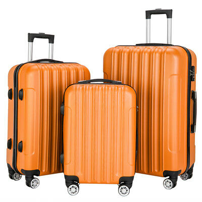 Set Of 3 Luggage Set ABS Spinner Travel Lightweight Suitcase 20'' 24'' 28'' MO