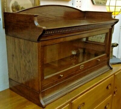 "Antique Oak ""Globe Vernicke"" Style Single Bookcase by Lebus Circa 1910"