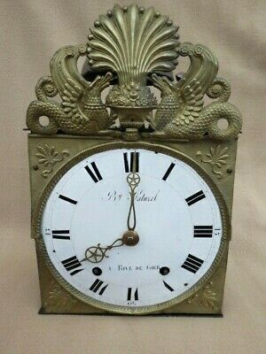 Antique French Comtoise Clock For Spares Or Repair