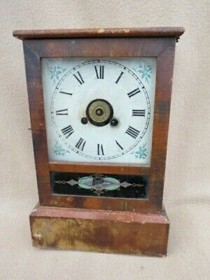 Antique Cottage Alarm Shelf Clock For Restoration