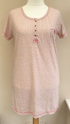 Primark Love to Lounge Pink Patterned Nightie Size 14 - 16