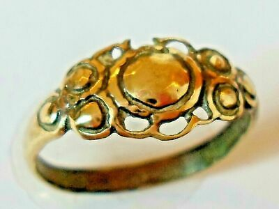 X-Mas Gift,Detector Find & Polished, Post Medieval Bronze Ring...