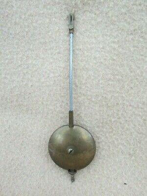 Antique Brass And Steel Clock Pendulum