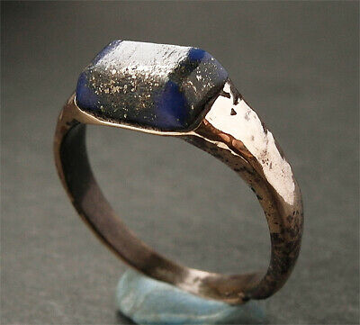 GENUINE ANCIENT VIKING BRONZE RING  - wearable