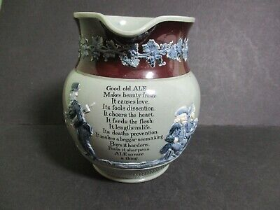 Antique Copeland Spode Ale Motto Jug