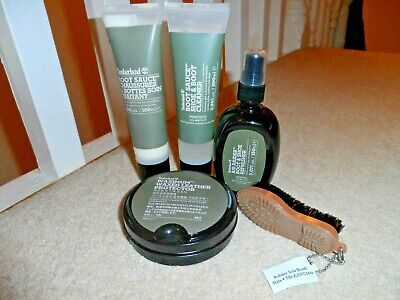 5 x NEW TIMBERLAND SHOE & BOOT SAUCE CLEANING SET INC REFRESHER, CLEANER, BRUSH