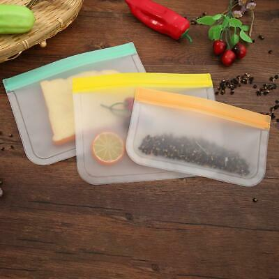 Kitchen Fresh Zip lock Bag Reusable Silicone Fruit Food Freezer Storage Bags 1pc