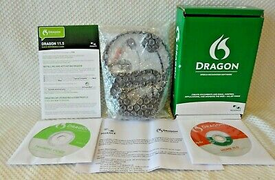 Dragon US 11 Speech Recognition Software Nuance DVD Rom REV A Naturally Speaking