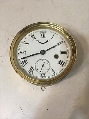 Early Antique Seth Thomas Brass Marine Lever Locomotive Or Ships Clock