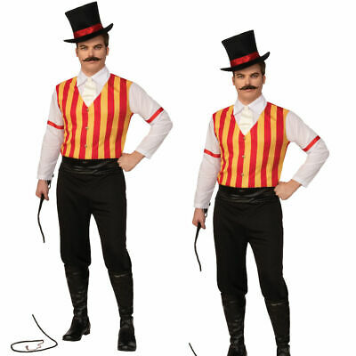 Mens Ringmaster Costume Adult The Greatest Showman Circus Presenter Fancy Dress