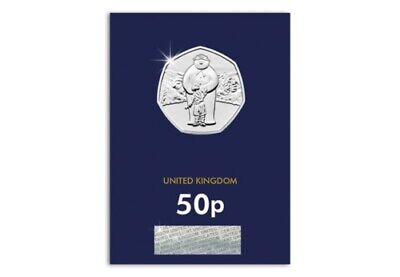 2019 The Snowman 50P Fifty Pence Uk Certified Bu - Official Uk Issue