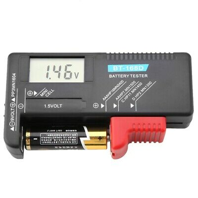Universal Digital LCD AA AAA C D 9V 1.5V Button Cell Battery Volt Tester