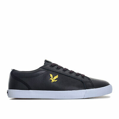 Mens Lyle And Scott Halket Leather Trainers In Black