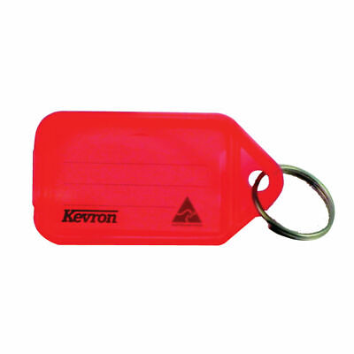 NEW! Kevron Plastic Clicktag Key Tag Red Pack of 100 ID5RED100
