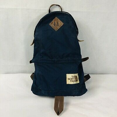 VINTAGE THE NORTH FACE Brown Tag Navy Blue Canvas Day Pack