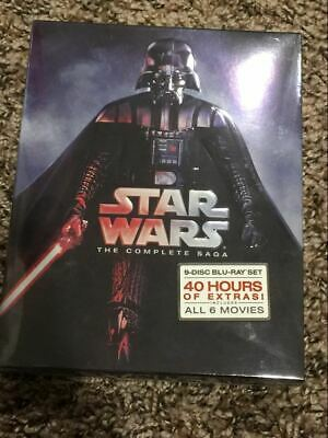 Star Wars: Complete Saga episodes 1-6 Movie Box Set 9-Disc Blu-Ray New US sell