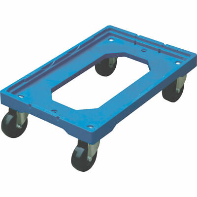 NEW! Blue Plastic Wheeled Container Dolly 369320