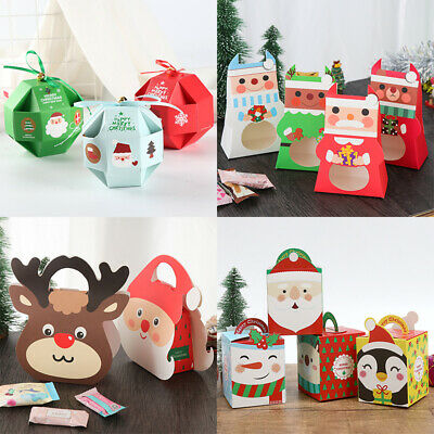 2019 Christmas Party Paper Favour Gift Carrier Boxes DIY Party Favor Gift Boxes