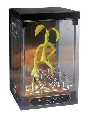 """FANTASTIC BEASTS Bowtruckle Magical Creature 7"""" Figure & Case (Noble Collection)"""