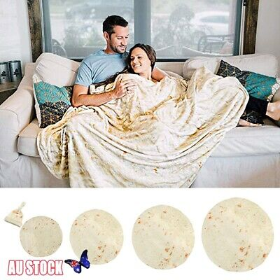 Adult Kids Tortilla Burrito Towels Corn Flour Blanket Swaddle Throw Sleep Wrap