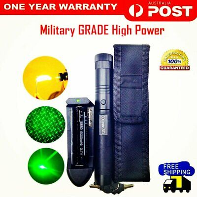 1/2/5 sets High Power Green Laser Pointer Pen 50Mile with Rechargable Battery AU