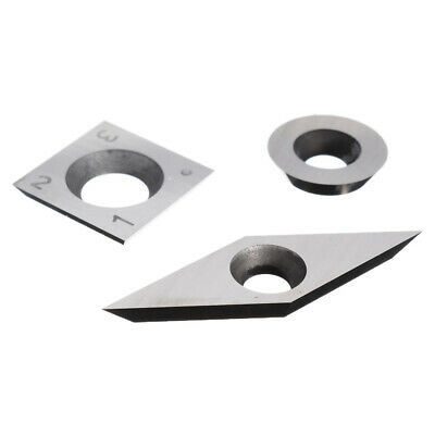 3pc Tungsten Carbide Cutter Inserts Kit Set For Wood Turning Working Lathe Tools