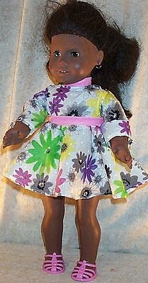 "Doll Clothes Made 2 Fit American Girl 18"" inch Spring Line Dress Pink Green"