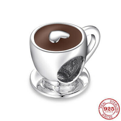Authentic Pandora Coffee Cup 925 Sterling Silver Charm Bead Christmas Gifts