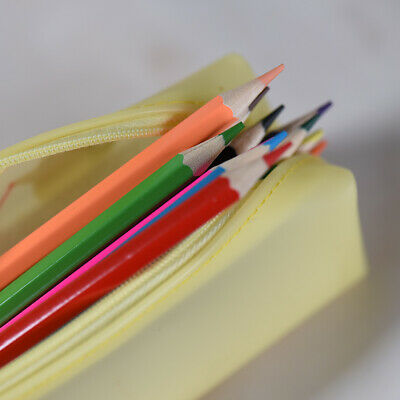 Soft Waterproof Pen Pencil Case Zipper Stationery Bag Lovely for Students Y0T1