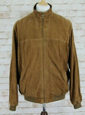 MARKS & SPENCER Collezione Brown Leather Jacket size M