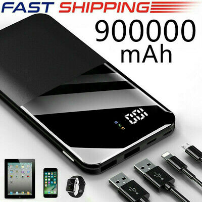 Powerbank LCD 100000mAh External Charger tragbare LED 2 USB Batterie Für Phone
