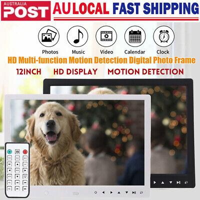 "12"" HD Multi-function Motion Detection Digital Photo Frame + Remote Controller"